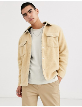 Weekday   Irwin   Borg Overshirt In Beige by Weekday