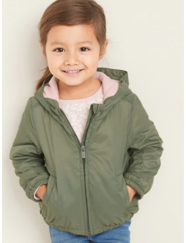 Water Resistant Hooded Zip Jacket For Toddler Girls by Old Navy