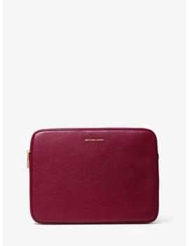 Pebbled Leather 13 Inch Laptop Case by Michael Kors