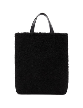Black Shearling Montone Tote by Off White