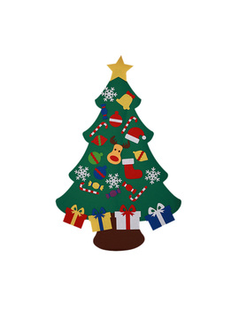 Kid Diy Felt Christmas Tree Xmas Ornaments Gift Wall Hanging Decor by Fymall