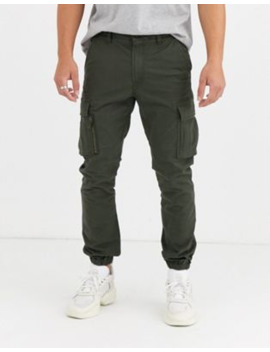 Superdry International Recruit Flight Cargo Trousers In Khaki by Superdry