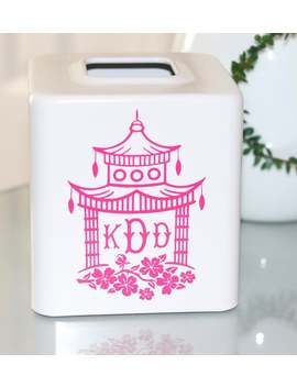 Chinoiserie Monogram Tissue Box Cover Free Shipping by Etsy