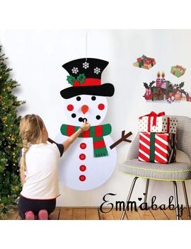Children Kids Diy Felt Christmas Snowman Ornaments Door Wall Hanging Decor by Meihuida
