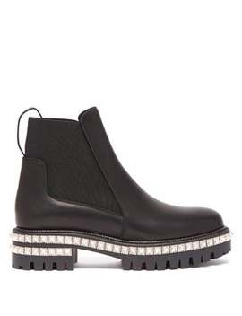 By The River Studded Leather Chelsea Boots by Christian Louboutin