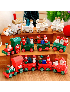 Spencer Christmas Wooden Train Tree Ornament Decor Kids Toy Gift Party Decor by Spencer Toys