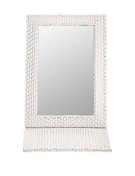 Havana White Folding Mirror by Stephanie Johnson