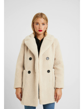 Lead In Borg Coat   Winterjas by New Look Petite