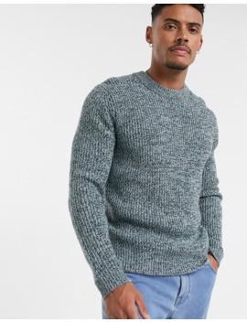 Topman Knitted Jumper In Light Blue by Topman