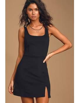 Always Admired Black Sleeveless Mini Dress by Lulus