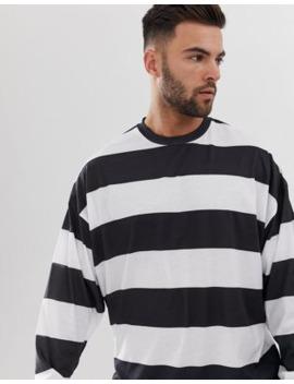 Asos Design   Oversized Gestreept T Shirt Met Lange Mouwen by Asos Design