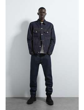 Casaco Denim Raw by Zara