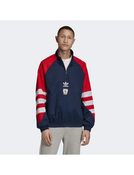 Arsenal Trefoil Quarter Zip Track Jacket by Adidas