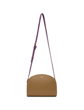 Brown & Purple Demi Lune Bag by A.P.C.