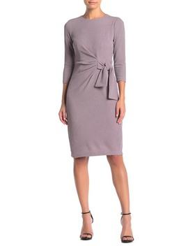 Side Tie Shimmer Dress (Petite) by London Times