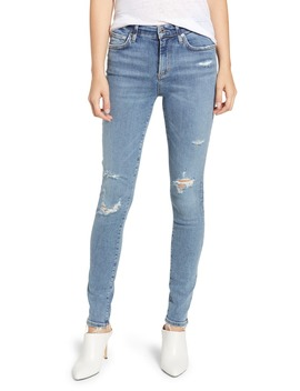Sophie Distressed High Waist Skinny Jeans by Agolde