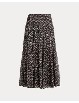 Tiered Georgette Peasant Skirt by Ralph Lauren