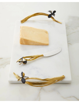 Black Iris Large Cheese Board With Knife by Michael Aram