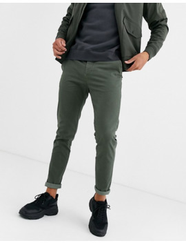 Asos Design Skinny Chinos In Washed Khaki by Asos Design