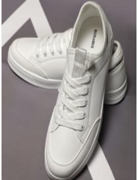 Men White Sneakers by Highlander