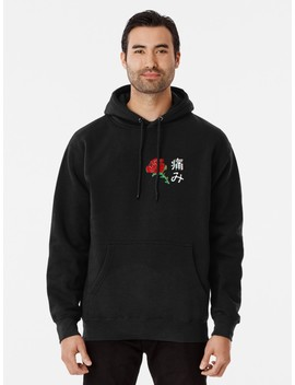 Japanese Aesthetic Rose V4 Pullover Hoodie by Redbubble