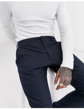 Only & Sons Slim Fit Trousers In Blue Check by Only & Sons