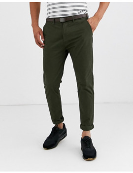 Pull&Bear Join Life Smart Skinny Chino In Green by Pull&Bear