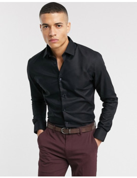 Selected Homme Slim Fit Easy Iron Smart Shirt In Black by Selected Homme
