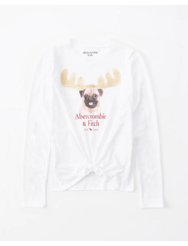 Flip Sequin Tie Front Tee by Abercrombie & Fitch