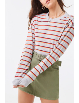 Striped Heathered Top by Forever 21