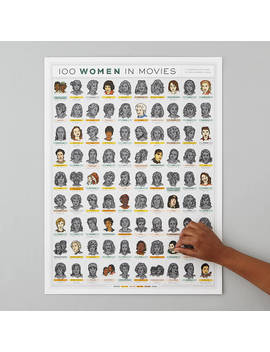 100 Women In Movies Scratch Off Poster by Uncommon Goods