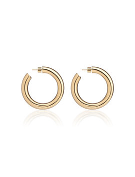 Baby Jamma 14 K Gold Plated Hoop Earrings by Jennifer Fisher