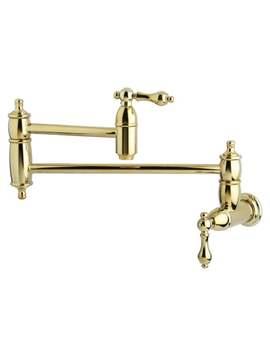 Restoration Polished Brass Pot Filler Kitchen Faucet by Kingston Brass