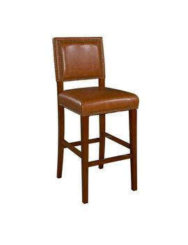 Brook 30 In. Caramel Cushioned Bar Stool by Linon Home Decor