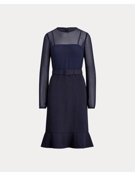Georgette Jersey Dress by Ralph Lauren