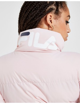 Fila Logo Crop Puffa Jacket by Jd Sports