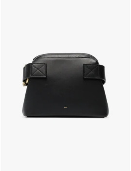 Black Mini Brot Leather Cross Body Bag by Osoi