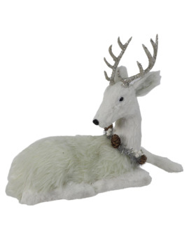 "12"" Sitting Fur Deer Tabletop Accent By Ashland® by Ashland"