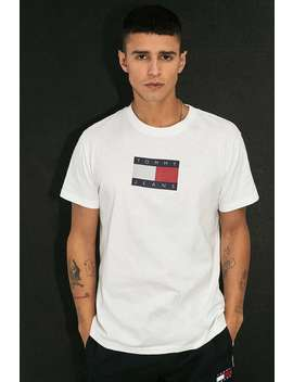Tommy Jeans Metallic Flag T Shirt by Tommy Jeans