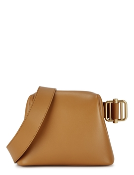 Brot Mini Camel Leather Cross Body Bag by Osoi