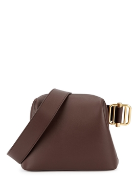 Brot Mini Brown Leather Cross Body Bag by Osoi