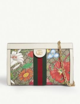Floral Gg Monogram Canvas Shoulder Bag by Gucci