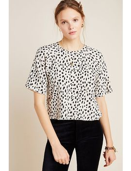 Cheetah Cut Off Sweatshirt Tee by Monrow