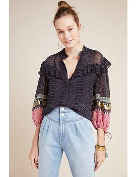 Magda Ruffled Buttondown by Verb By Pallavi Singhee