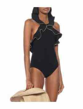 Ruffled Halterneck Swimsuit by Karla Colletto
