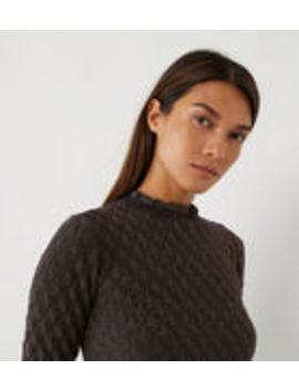 Sparkle Wave Pointelle Jumper by Warehouse