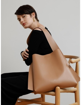 Arc Big Bucket Bag Artificial Leather Camel by Lecc Project