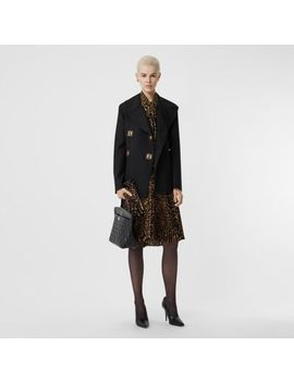 Double Faced Wool Pea Coat by Burberry