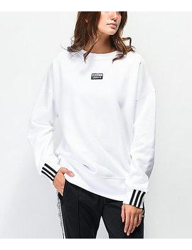 Adidas R.Y.V. White Crew Neck Sweatshirt by Adidas