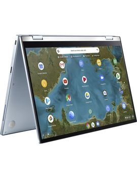 "Flip C433 Ta 14"" Intel® Core™ M3 2 In 1 Chromebook   64 Gb E Mmc, Silver by Currys"